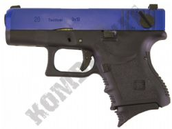 WE EU26 Gen 3 Glock G26 Replica Gas Blowback Airsoft BB Gun 2 Tone Black Blue Metal Slide